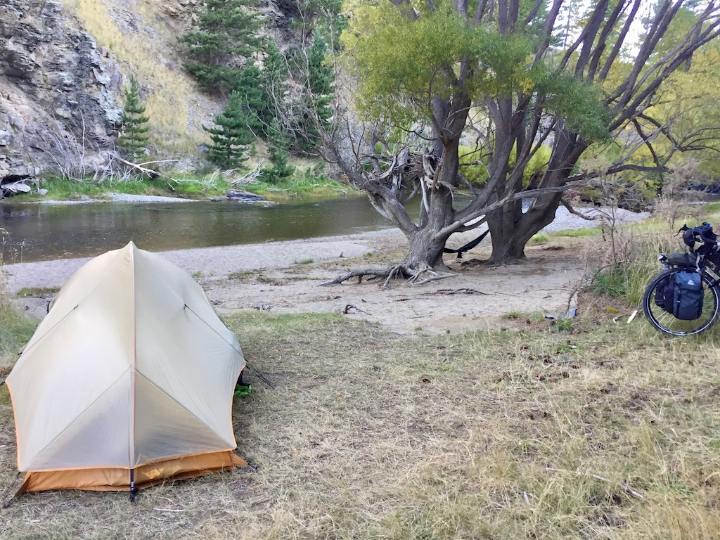 Camp by the Taieri river