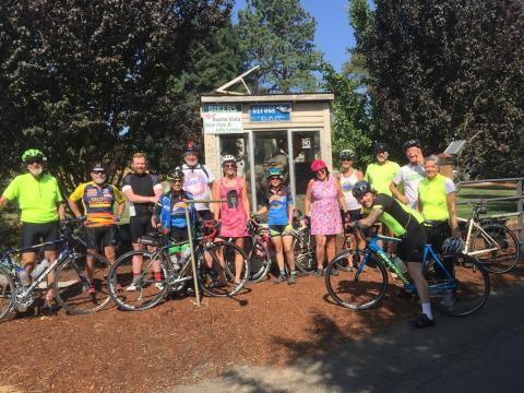 At the Sasquatch Bike Station