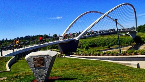 The new bridge out of River Park