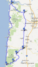 Map of Coast Tour stage 1