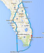 Map of my Florida Tour